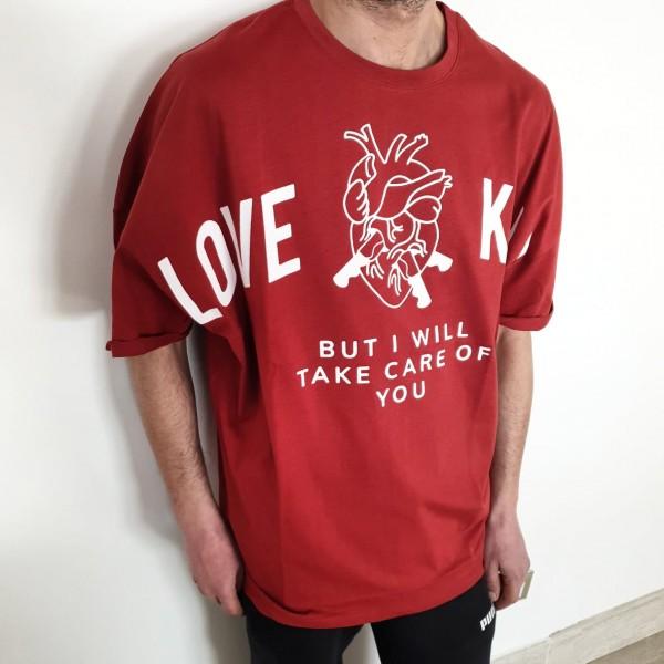 T-SHIRT LOVE IS KILLS RED