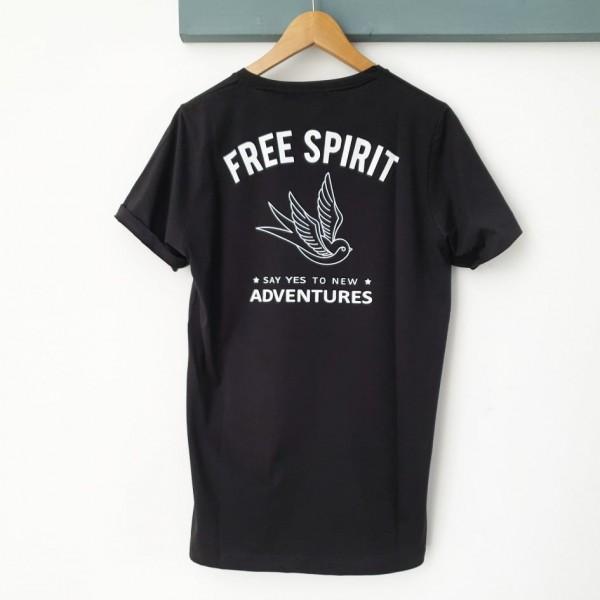 T-SHIRT FREE SPIRIT BLACK
